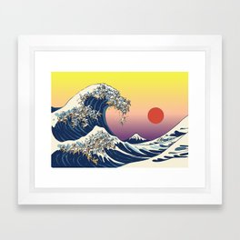 The Great Wave Of  Cat Framed Art Print