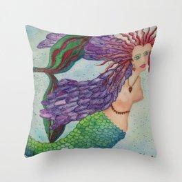 Electra Mermaid Throw Pillow