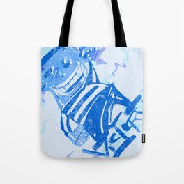 Blue victory Tote Bag