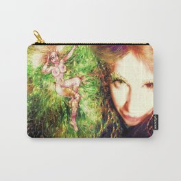 Fairy feather wood nymph ladykashmir painting , Art Print by ladykashmir Carry-All Pouch