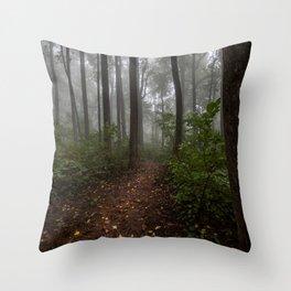 Smoky Mountain Summer Forest IX - National Park Nature Photography Throw Pillow