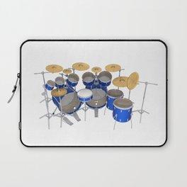 Blue Drum Kit Laptop Sleeve