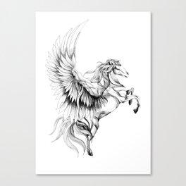 Pegasus (black stroke version for t-shirts) Canvas Print