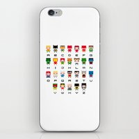 aquaman iPhone & iPod Skins featuring Superhero Alphabet by PixelPower