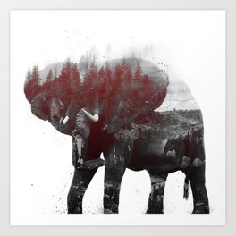 Elephant V1 Art Print