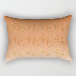 """Cactus flowers in soft orange"" Rectangular Pillow"