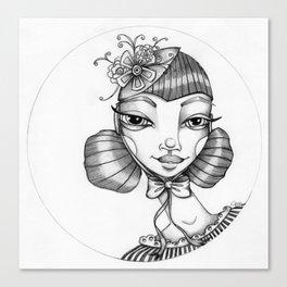 JennyMannoArt Graphite Illustration/Victoria Canvas Print