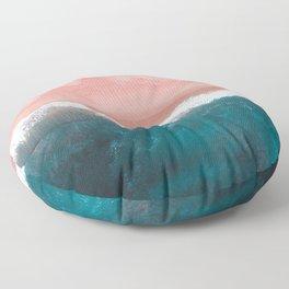 Turquoise Sea Pastel Beach II Floor Pillow
