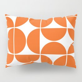 Mid Century Modern Geometric 04 Orange Pillow Sham