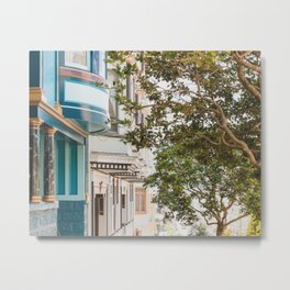 Climbing Hills in San Francisco Metal Print