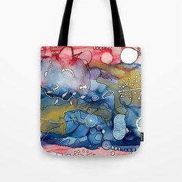Reef of Rose and Prussian Tote Bag