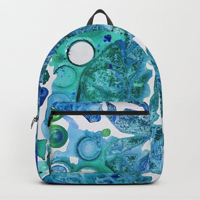Sea Leaves, Environmental Love of the Ocean Blue Backpack