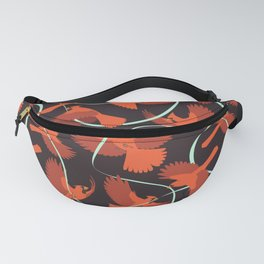 Cardinals with Ribbon Fanny Pack