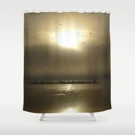 First step between Heaven and Hell Shower Curtain