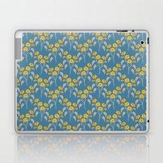 Flowers Blue Pattern Laptop & iPad Skin