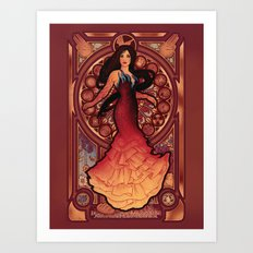 Fire is Catching Art Print