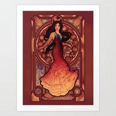 Fire is Catching Art Print