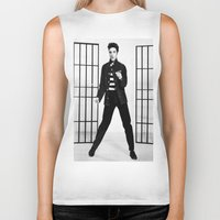 elvis presley Biker Tanks featuring Elvis Presley by Neon Monsters