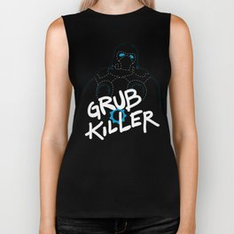 Grub Killer (Blue) Biker Tank