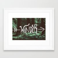wander Framed Art Prints featuring Wander by Leah Flores