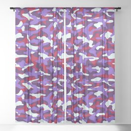 Berry Camouflage Sheer Curtain