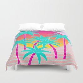 Hello Miami Sunset Duvet Cover