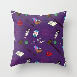 Heathers (Holy Trinity Print #1) Throw Pillow