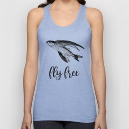 Fly Free Fish Unisex Tank Top