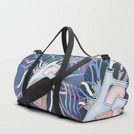 Heart Vibe in Blue Duffle Bag