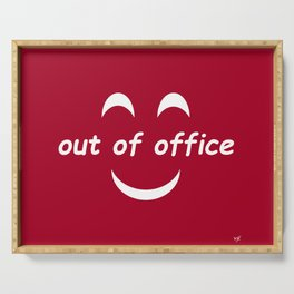 Out of Office Red Serving Tray