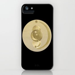 Black Gold Moon and Stars #1 #decor #art #society6 iPhone Case