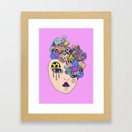 shroom face Framed Art Print