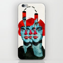 The cats in my head iPhone Skin