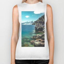 Summertime Lakeside - Crater Lake Biker Tank