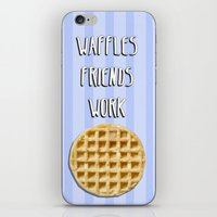 parks and recreation iPhone & iPod Skins featuring Parks and Recreation - Waffles, Friends, Work by Sarah and Bree