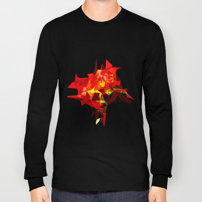 red polygone object Long Sleeve T-shirt