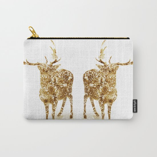 Old School Rocks! Gold Deer Version Carry-All Pouch