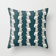 Cool Octopus Reef Throw Pillow