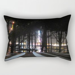 Blackpool Lights Reflection In Water At Night  Rectangular Pillow