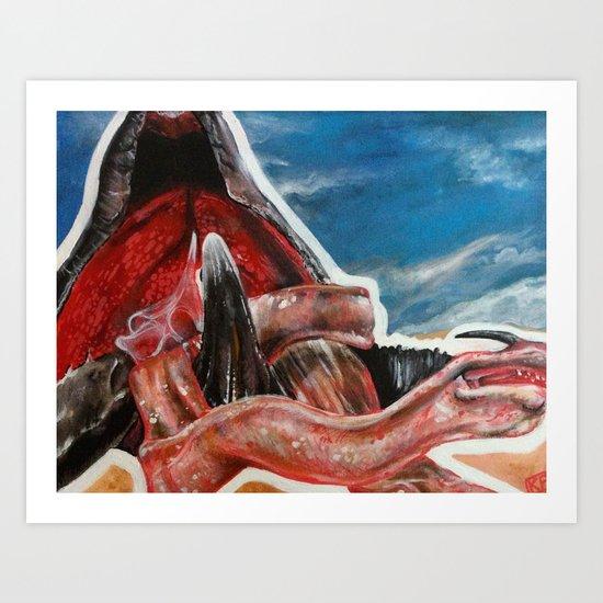 Graboid from Tremors Art Print