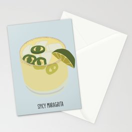 spicy margarita Stationery Cards