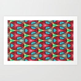 Rasberry blue Art Print