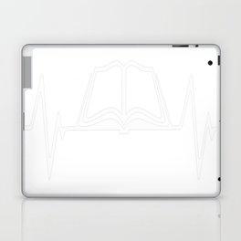 Book Reading Heartbeat Love Laptop & iPad Skin