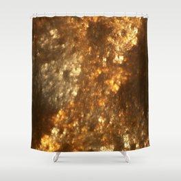 Fractal Art - Gold mine Shower Curtain