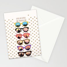 Little by little, one travels far Stationery Cards