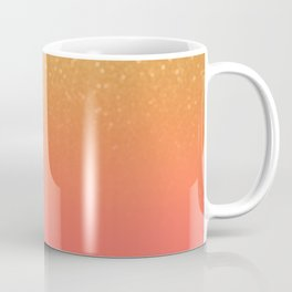 Living Coral Gold Glitter Coffee Mug