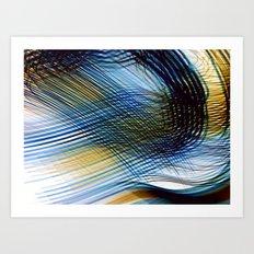 Colored shadows Art Print