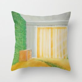 lively wallpaper Throw Pillow