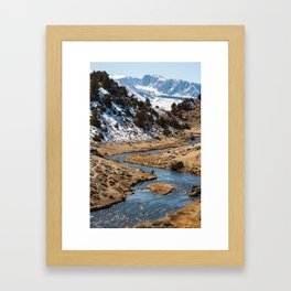 Fishing in Hot Creek Framed Art Print