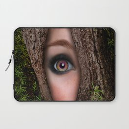 Beautiful Face trapped in a tree trunk Laptop Sleeve